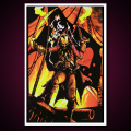 Black Light Poster Blackbeard the Pirate