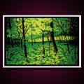 Black Light Poster Summer Woods
