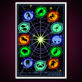 Black Light Poster Signs of the Zodiac
