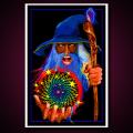 Black Light Poster Mystic Wizard