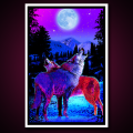 Black Light Poster Timberwolves