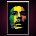 Black Light Poster Bob Marley