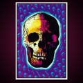 Black Light Poster Skull Trip