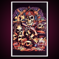 Black Light Poster Pirate Treasure